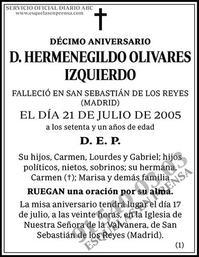 Hermenegildo Olivares Izquierdo